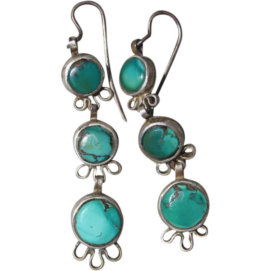Early Navajo Earrings