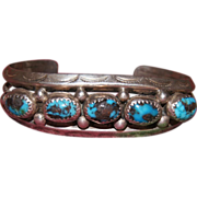 1930's Bisbee Turquoise Navajo Bracelet
