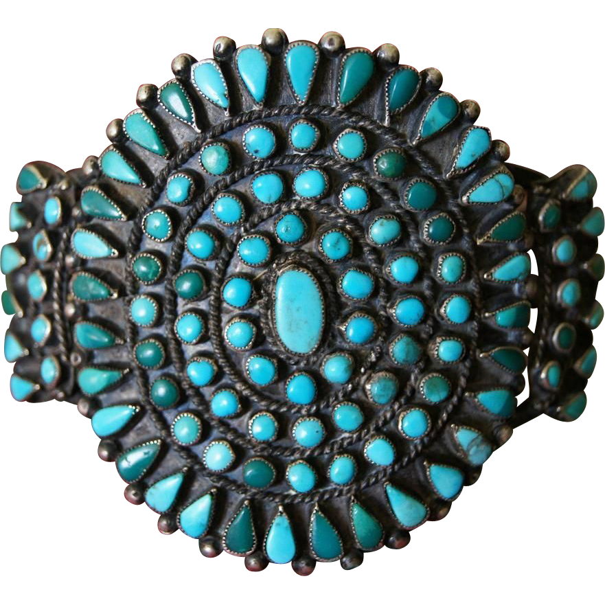 Zuni Cluster Bracelet
