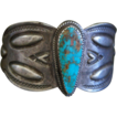 Early Ingot Bracelet With Turquoise
