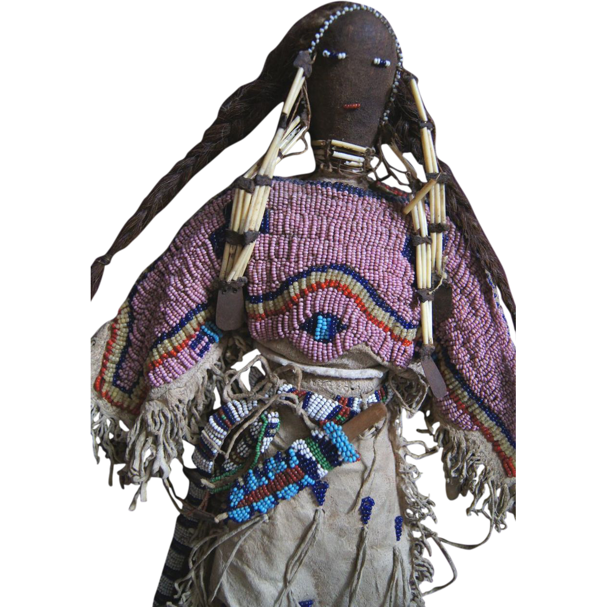 Lakota Beaded and Quilled Doll 1880-1890