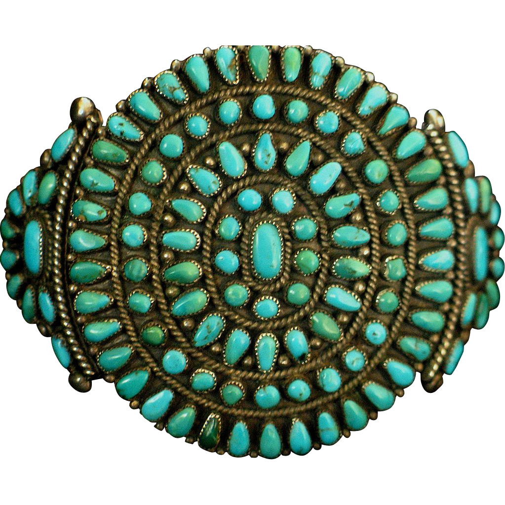 1950's Native American cluster bracelet