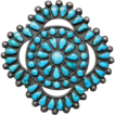 Native American cluster brooch Circa 1930