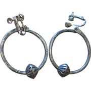 Navajo/Pueblo Hoop Earrings