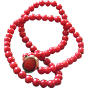 Vintage Oxblood Coral Necklace