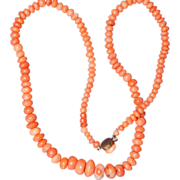 Antique Sciacca Coral Necklace