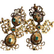 Antique Spanish Emerald Earrings circa 1780