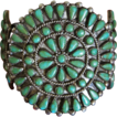 Zuni Cluster Bracelet With Deep Green Turquoise