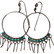 SALE Vintage Zuni Hoop Earrings