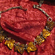 SOLD Vintage Lisner Maple Leaf Necklace