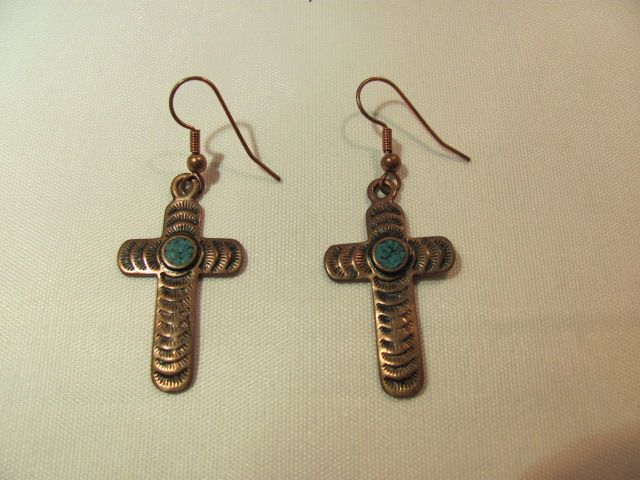 Anthony Kee Navajo Pierced Earrings