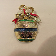 SALE Gerry Christmas Tree Bulb Pin