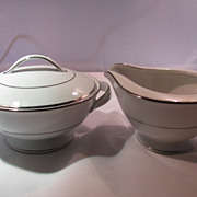 SALE Noritake Envoy Cream and Sugar Set