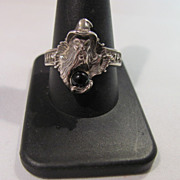 SALE Sterling Merlin Wizard Magician Ring Size 11
