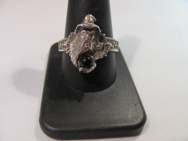 Sterling Merlin Wizard Magician Ring Size 11