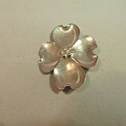 Stuart Nye Sterling Dogwood Pin
