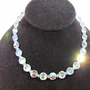 SALE Vintage Hobe Aurora Crystal Necklace