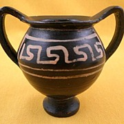 SALE Miniature Greek Painted Pottery Jar, Circa 400 BCE Apulian Nestoris-