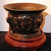 SALE Ancient European Medusa Mortar-12th-13th Century
