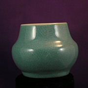 SALE Very Rare Chinese Miniature Ding (jar) Turquoise, Circa 1662-1722ADE