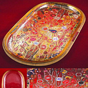 Folk Art Cigar Band CollageTray-Circa 1984