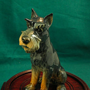 Schnauzer-Gray & Tan-Goebel Porcelain Figure-(circa 1979)