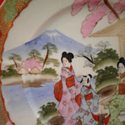 Traditional Japanse Multicolored Decorative Plate-cira 1930's