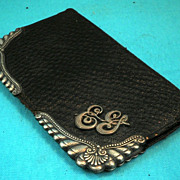 English Victorian GORUM Sterling Silver Wallet-Circa 1880