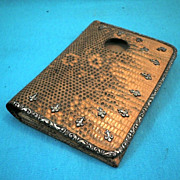Victorian Gorham Lizard Skin Wallet w/ Picture Window - circa 1880