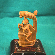 Miniature Sandalwood Sculpture Dancing Shiva-1955
