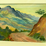 Harrison Hartley-Mountains at Huntington Hartford Art Colony�circa 1943