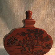 Art Nuevo Stylized Chinese Medicine-Incense Bottle-Circa 1928