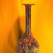 Antique Hand-blown Multicolored Millefiorio Decanter-Milano-Circa-1900