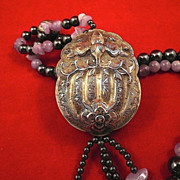 Buddhist Silk Road Artisan Designed Good Luck Bat Pendent-Circa-1970