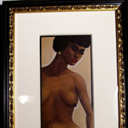 Vintage Black Nude-WPA Water Color-circa 1938