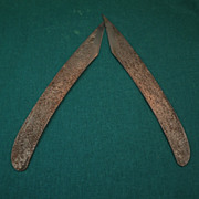 Traditional Japanese Hand-Forged Laminated Woodworking Knives-Circa 1982
