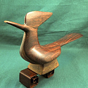 Ironwood Roadrunner Sculpture, Mexican-Circa 1950