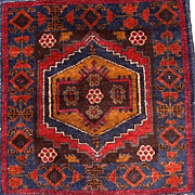 Hand-knotted Persian Baluch Rug- Circa-1970