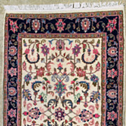 Handed-Knotted Wollen Indian Kashan-Circa 1935