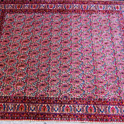 Large Pink Paisley Persian Carpet,1930's-Moud(Mood), Mashad,Khorassan