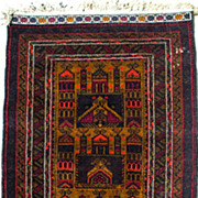 Unique Mashwani Prayer Rug-Circa-1965