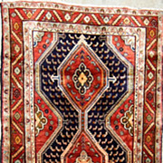 Tribal Nomadic Kurdish Zagheh Runner-Circa 1940-1950