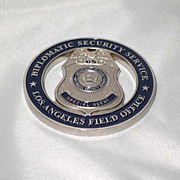 SOLD Obscure US Diplomatic Security Service Metal Badge