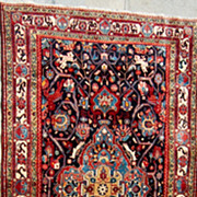 Persian Rug-Hamadan Malayer Sarouk Nomadic Tribal-1946-1949