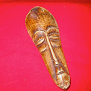 Tribal West African Miniature Mask- Ox Bone, Circa 1920