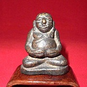 Antique Bronze Bodhidharma, Northern China-Circa 1900