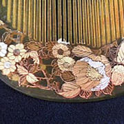 Japanese Geisha Comb, Gold-Silver on Celluloid, Early-Showa Period
