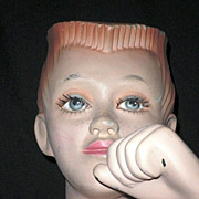 Mannequin Counter-Top Torso Display Model of Young Boy Circa 1950