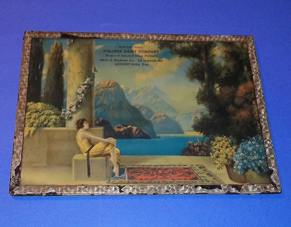 Vintage Art Deco Print Woman Lake Advertising 1920's Parrish Fox