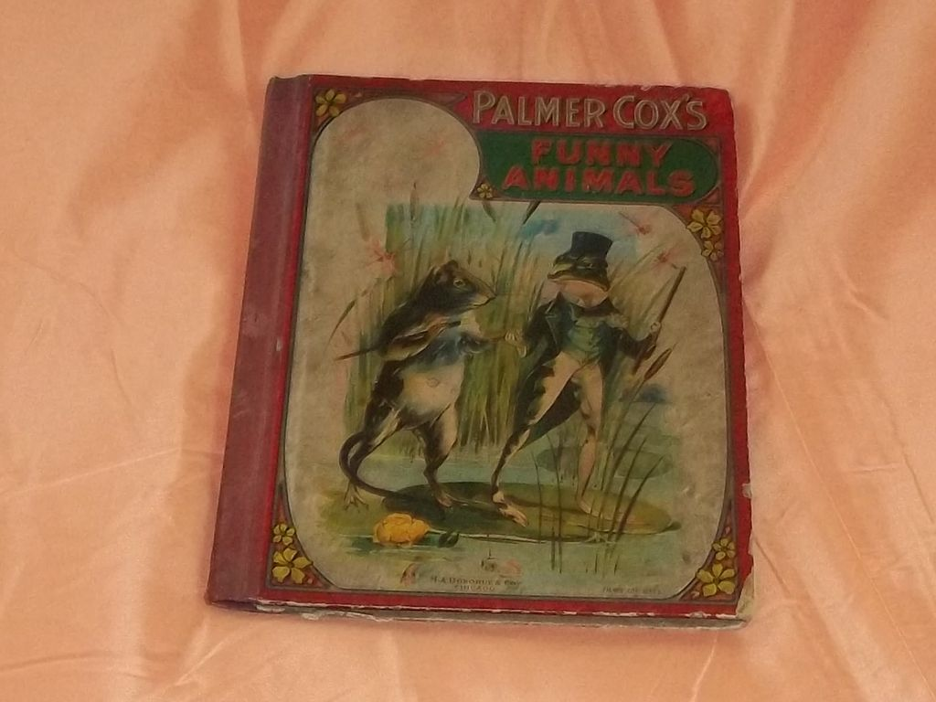 1900's Vintage Childrens Book Palmer Cox Funny Animals